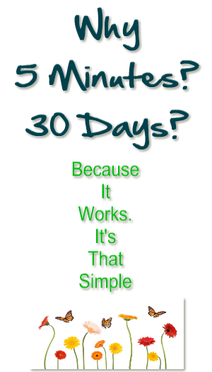 why5min30days2 5 Minutes for 30 Days Challenge