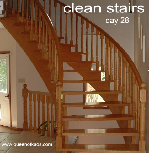 28cleanstairs Day 28   Stairs or Hallway